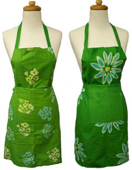 Picture of reversible batik apron