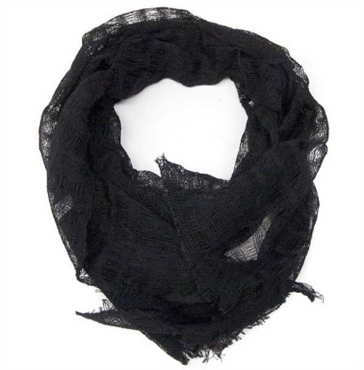Picture of solid loose weave scarf