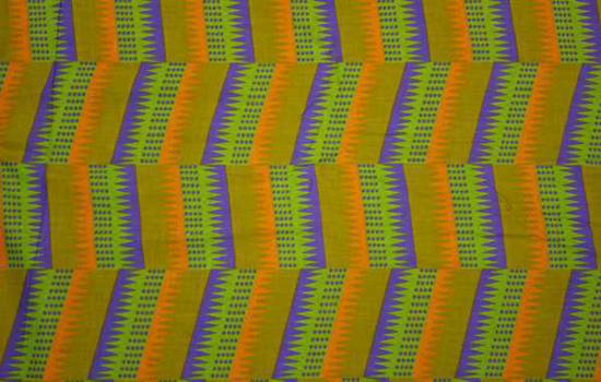 Picture of batik fabric - zigzag pattern
