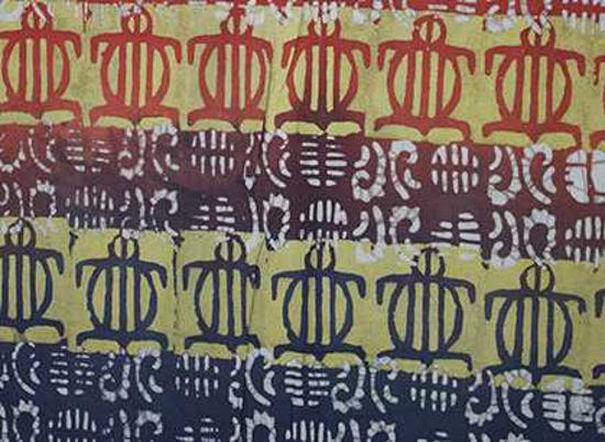 Picture of batik fabric - turtle pattern