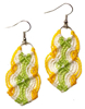 Picture of wavy macrame earrings