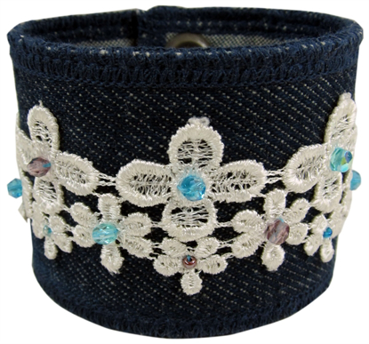 Picture of lacy denim bracelet