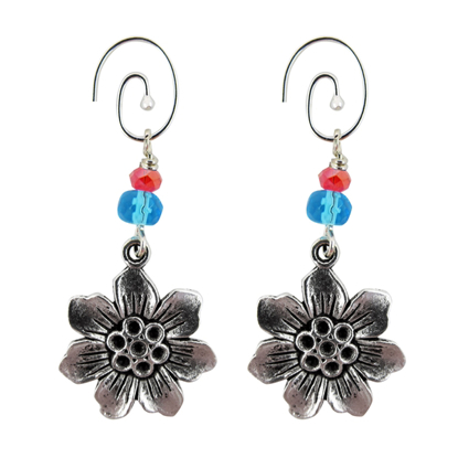 Picture of starflower charm earrings