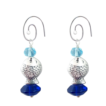 Picture of fish charm earrings