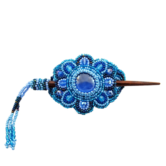 Picture of mini beaded crystal hair slide
