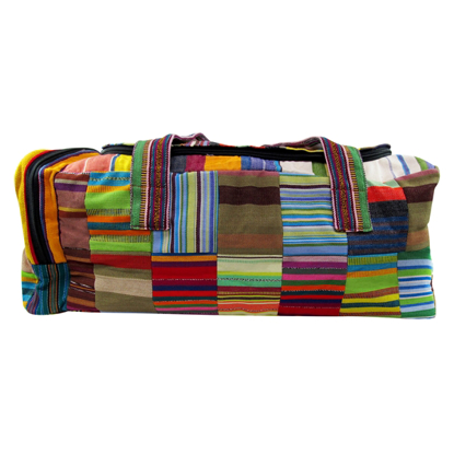 Picture of ikat patch duffel