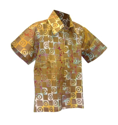 Picture of toddler button-up batik shirt
