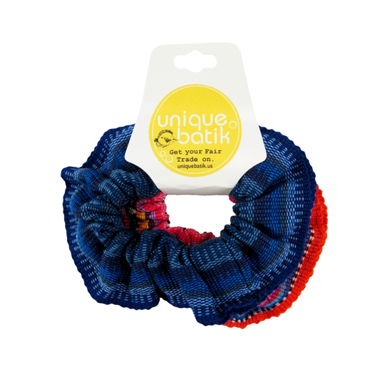 Picture of ikat scrunchie set