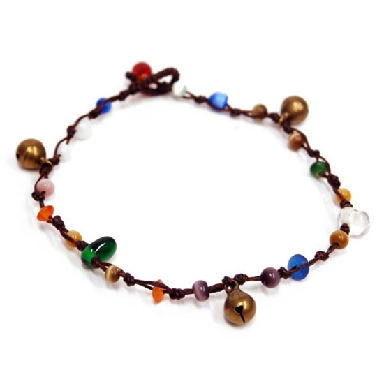 Picture of jippy multicolor bell anklet