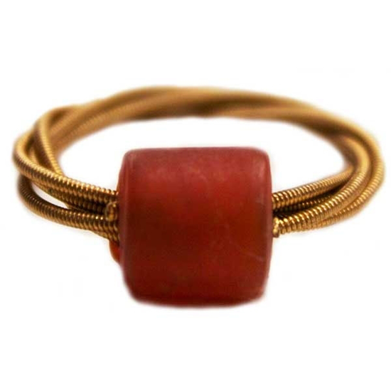 Picture of beaded guitar string ring