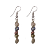 Picture of spiral pearl earrings