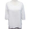 Picture of cotton blouse 3/4 sleeve white