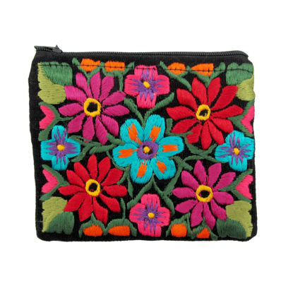 Picture of two zip floral coin large
