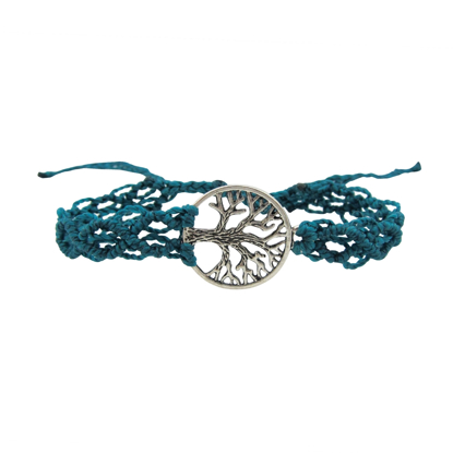 Picture of macrame tree of life bracelet
