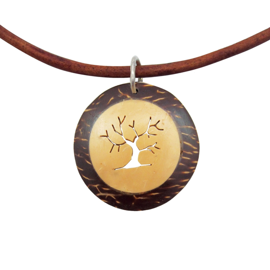 Picture of coco leather deluxe necklace