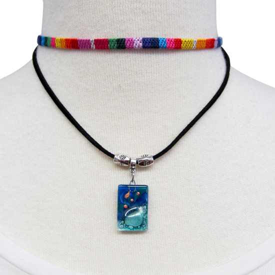 Picture of fusion woven double choker