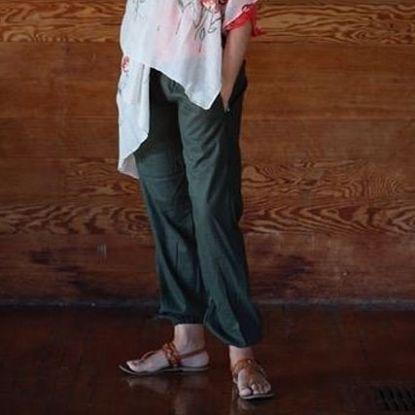 Picture of linen pants elastic leg