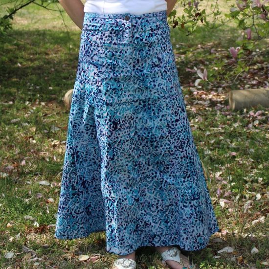 Picture of batik skirt long
