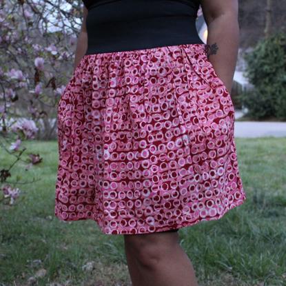 Picture of batik cinch skirt