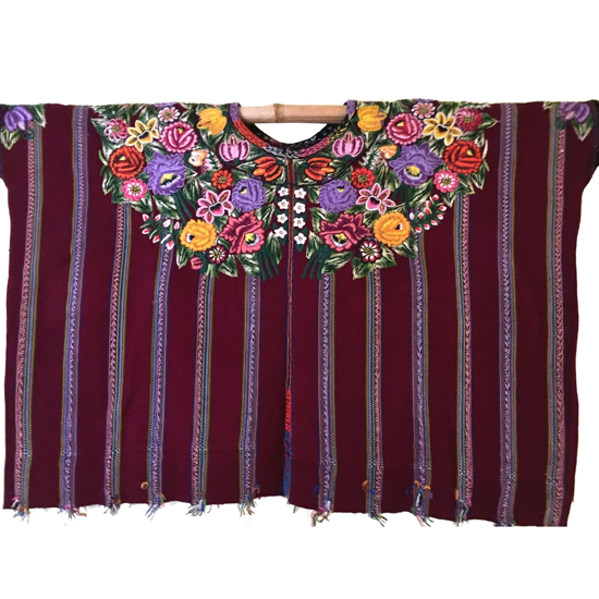 Picture of floral huipil blouse