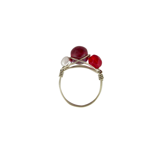 Picture of beaded wire ring