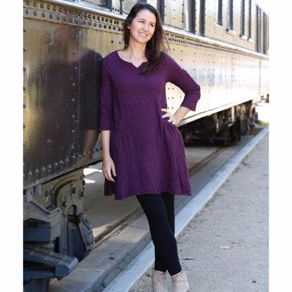 Picture of gauzy two pocket dress