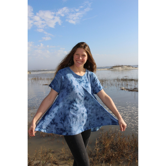 Picture of cotton swing top indigo