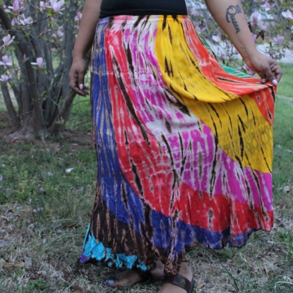 Picture of long crinkle skirt