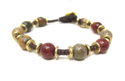 Picture of agate disk bracelet