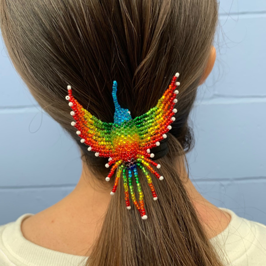 Picture of beaded hair holder