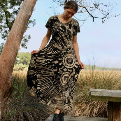 Picture of short sleeve cotton dress
