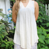 Picture of gauzy v-neck