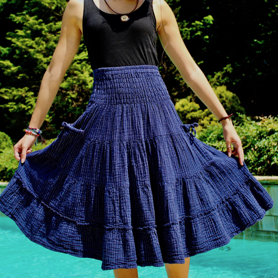 Picture of gauzy stripe skirt