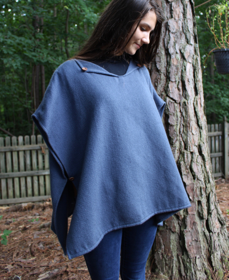 Picture of fleece poncho