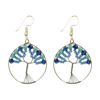 Picture of beaded tree of life earrings