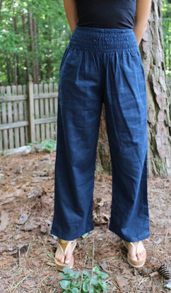 Picture of wide band linen pants