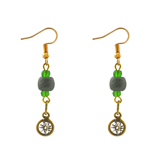 Picture of polished bead earrings