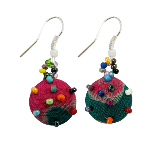 Picture of batik button earrings
