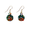 Picture of small batik button earrings