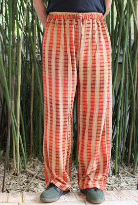 Picture of gauzy ikat drawstring pant