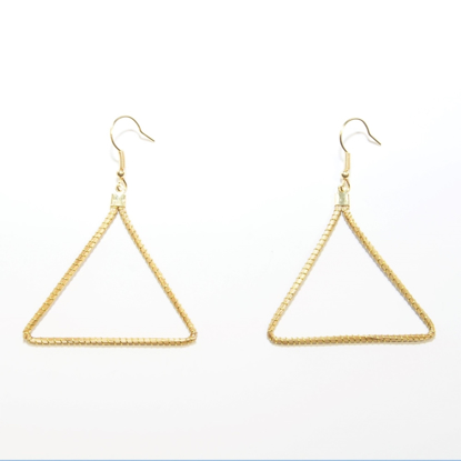 Picture of triangle earrings