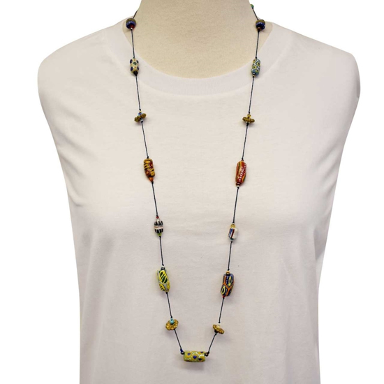 Picture of multi media necklace