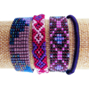 Picture of beaded woven wrap bracelet
