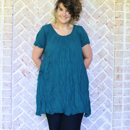 Picture of pleated cotton tunic