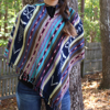 Picture of hooded poncho