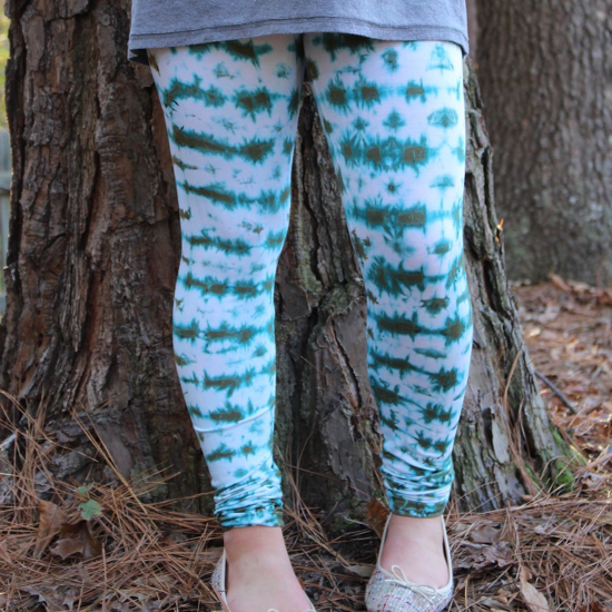 Picture of leggings - all-over tie dye