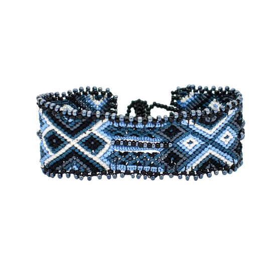 Picture of beaded woven bracelet