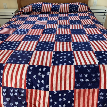 Picture of stars and stripes fabric