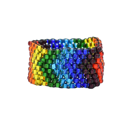 Picture of beaded woven ring