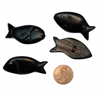 Picture of wooden button - fish